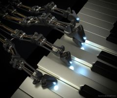 21st Century Player Piano Robot (Part 2) by Byron1c