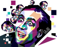 Nicolas Cage in WPAP by aHafizhi