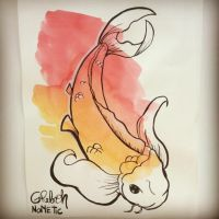 Greboh watercolor Koi by Greboh