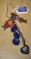 Kawaii Amy and 11 Doctor Who handbag charm by Lovelyruthie