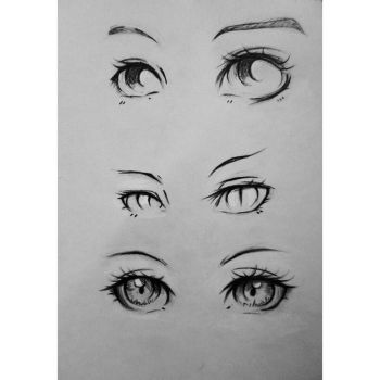 Anime Eyes by NasiK2424