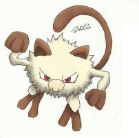 Kanto no. 056 Mankey by Randomous