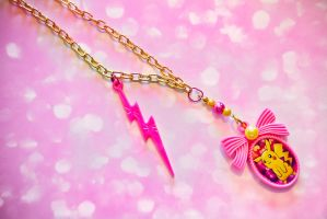 Pretty Pikachu Cameo Necklace by falt-photo