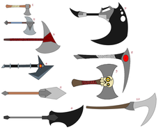 Staff Weapons by IronBroFst