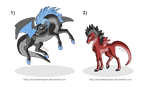 [Sold] Adoptables: Drahorses by MySweetQueen