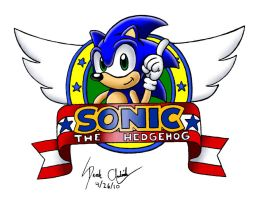 Sonic logo colored by Axxidous