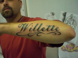 Surname tattoo by truth-is-absolution