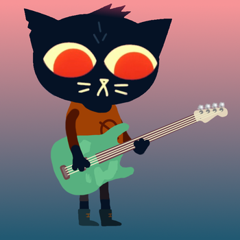 Night in the Woods - Mae plays bass by jerzrozza