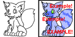 - Cute Animal Lineart - by MusicalAdopts