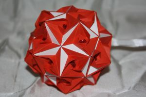 Floral Globe 2 Red by Kusu-dama
