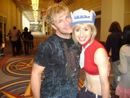 Me with Vic Mignogna by trishmeister