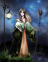 Lady Night Messenger by colloqui