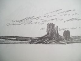 Monument Valley scribble by ryliecat