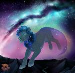 Galaxy Lion by Shadowwolf