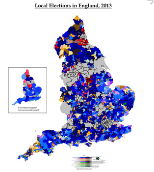 Local Elections in England, 2013 by AJRElectionMaps