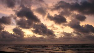 Corpus Christi beach front, early morning by YeAbve