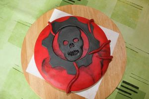 Gears of War Cake by WackoStarla