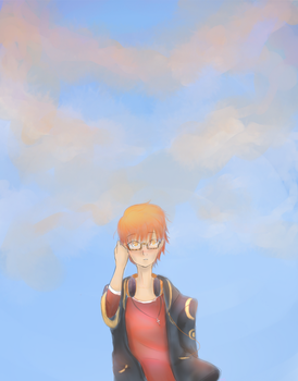 Seven and the sky by AyaMichelle