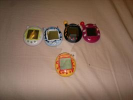 My and my sisters Tamagotchi collection by aishiteru420
