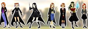 My long line of Harry Potter characters by GorgeousPixie