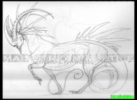 Ibex Guardian lineart by SizzyBubbles
