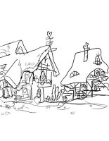 Traced Sketched Ponyville by Kittygirl12345678