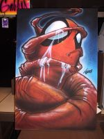 Spidy on Canvas by DontBornInInk