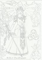 Princess of Light Lineart. by dessa86