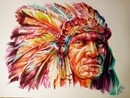 Black Foot Red Indian by him560