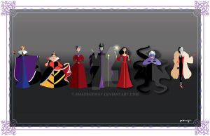 Disney female Villains by AmadeuxWay