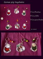 Guinea pig keychains by A-shanti