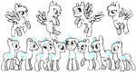Pony group base by jazzlovessilkies