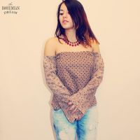 Upcycled Eco Friendly Bohemian Off Shoulder Top by TheBohemianDream