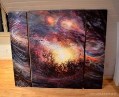 Deep Space Triptych by digitalreflexion