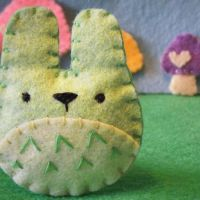 Mini Green Totoro by hellohappycrafts
