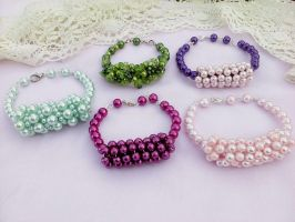 Colored bracelets beads by Mirtus63