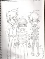 Einshine, Nyanstrike and TheAnimeman by BloodySapphire