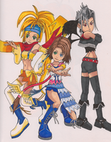 Kingdomn Hearts Girls by lokingard