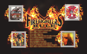 Fire Fighter Wallpaper by KevinsGraphics