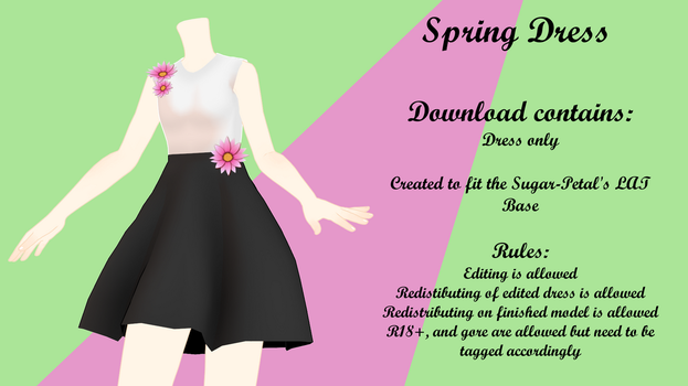 MMD Spring Dress DL by Arneth-Myndraavn