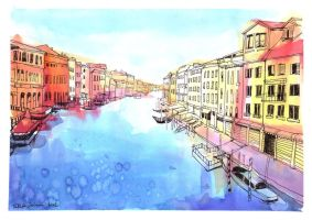 Venice Sketch by yoolchie