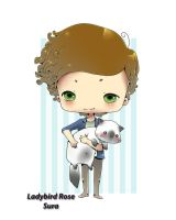 1D - Harry Styles , and my cat Peanut by LadyBird-Rose