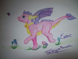 Ember and a Butterfly by TheSpyroFanatic