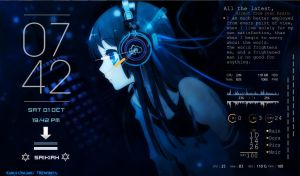 Anime Rainmeter by saikiah22
