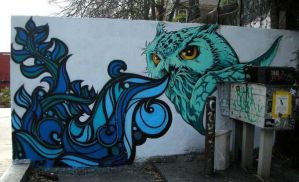 Owl Mural by Turbo-Benson