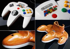 custom Super Mario 64 N64 controller by Zoki64
