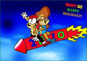MiGHTY Is on Holidayz by BloomsThorns