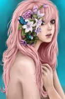 Pink flowers by Nozomi-Art