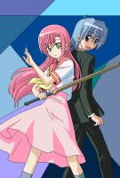 Hayate and Hinagiku by checkdafool