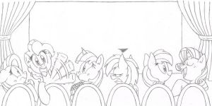 Canterlot Hill Theatre (Pencils) by FritzyBeat